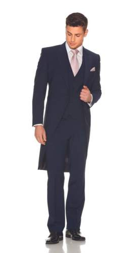 Slim Fit Blue Tailcoat Package